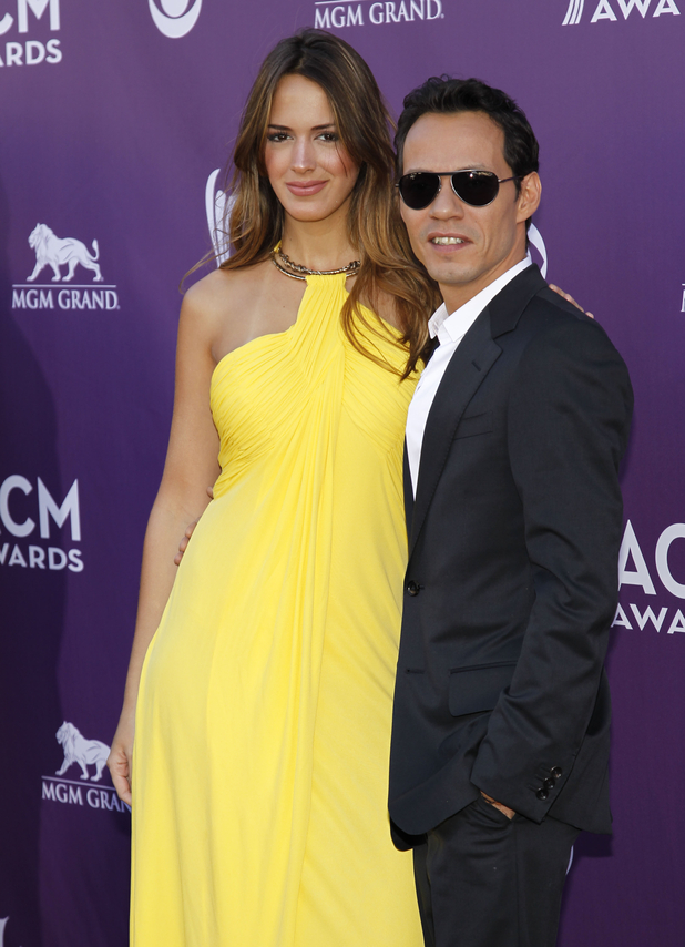 Marc Anthony, right, and Shannon De Lima