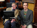 The first images from Stephen Hawking's guest stint on the sitcom are released.