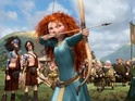 The star plays the lead role of feisty Princess Merida in Pixar's latest.