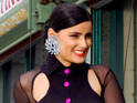 Nelly Furtado films her new single 'Big Hoops (The Bigger the Better)' in LA.