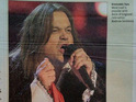 The Evening Standard prints a picture of Shaun Williamson dressed as Meat Loaf.