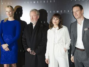 Charlize Theron, Ridley Scott, Noomi Rapace, Michael Fassbender