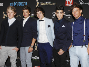 One Direction arrive at the Logies as they continue their Australian promotion tour.