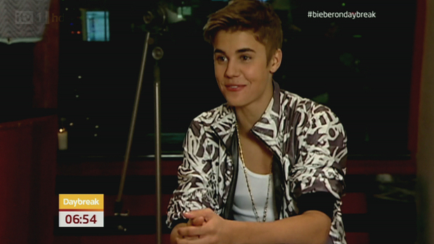 Justin Bieber featured on 'Daybreak' in an exclusive chat with showbiz reporter Ross King