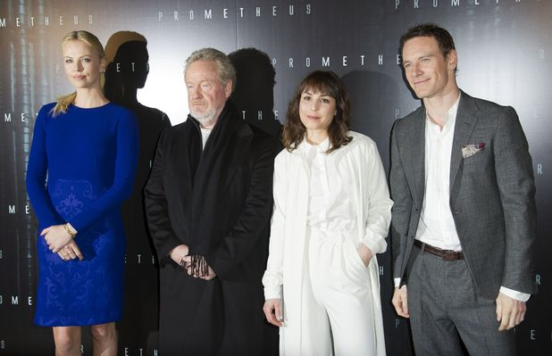 Charlize Theron, Ridley Scott, Noomi Rapace and Michael Fassbender
