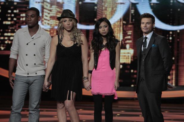American Idol:  Josh Ledet, Elise Testone and Jessica Sanchez