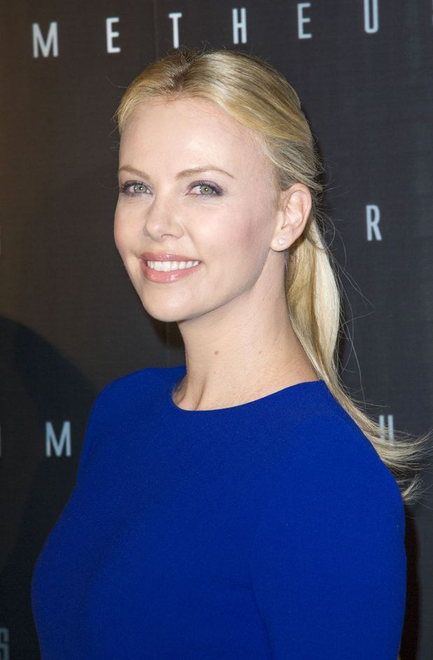 Charlize Theron at Prometheus premiere in Paris