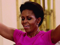 The contestants work out with Michelle Obama but one gains weight this week.