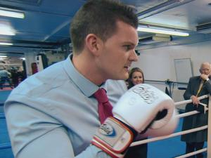 Project Manager Ricky steps into the ring to try out some moves