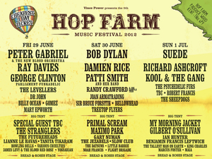 Hop Farm festival lineup 