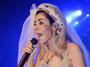 Marina Diamandis of Marina and The Diamonds performs in a wedding dress at G-A-Y London, England - 14.04.12 Credit Mandatory: Chris Jepson/WENN.com