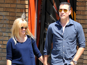 Reese Witherspoon and husband Jim Toth leaving church in Santa Monica Los Angeles, California