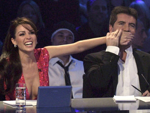 Danii Minogue and Simon Cowell