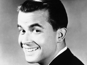 Dick Clark shown in 1960, as host of 'The Dick Clark Show' which featured the most popular pop music, songs and stars