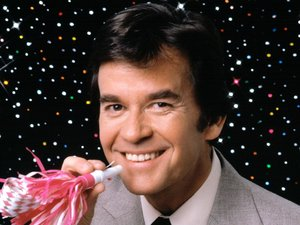 Dick Clark as host of the New Year's Rockin' Eve show in 1980