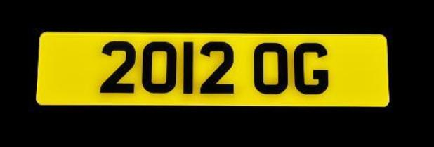 London 2012 number plate