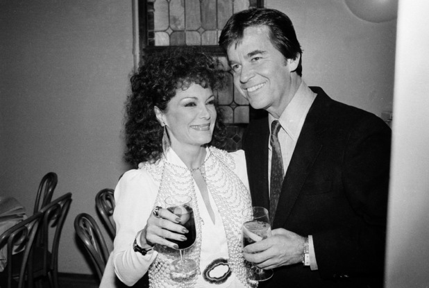 Dick Clark and Connie Francis are shown at a party in New York, March 1, 1982