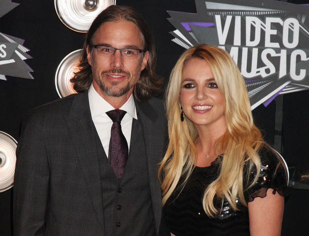 Britney Spears, boyfriend Jason Trawick 2011 MTV Video Music Awards held at LA Live - Arrivals Los Angeles, California