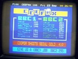 Ceefax on a television screen