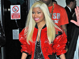 Nicki Minaj leaving her hotel London