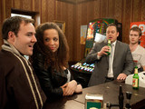 Terry and Tommy celebrate their partnership in work with a drink at the Rovers, when Kirsty steps in and tells them they might have spoken too soon