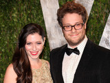 Seth Rogen (R) and Lauren Miller