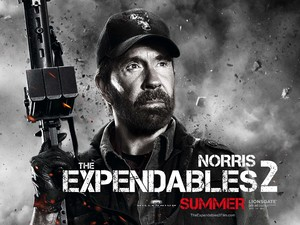Chuck Norris, Expendables 2 character poster