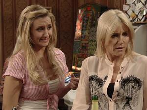 Stella looks on aghast as David flirts with Eva