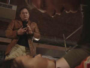 A panicked Terry bumps into Tommy who discovers Tina unconscious in a pool of blood