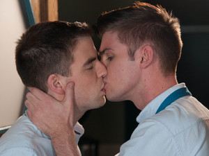 Doug and Ste share a kiss.