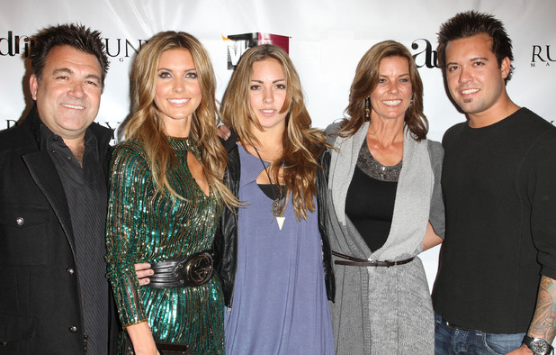 Family photo of the actress, dating Corey Bohan, famous for Do Not Disturb & Audrina.