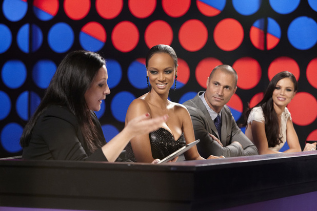 Kelly Cutrone, Tyra Banks, Nigel Barker and Georgina Chapman