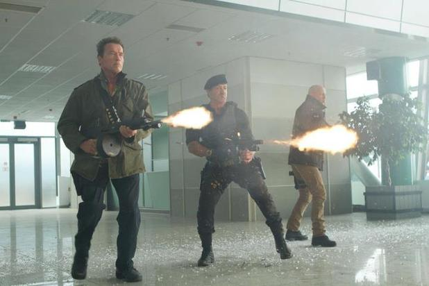 Arnold Schwarzenegger, Sylvester Stallone, Bruce Willis, The Expendables 2