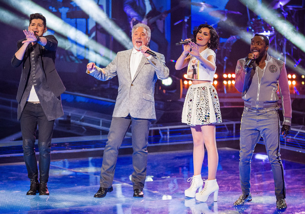 The Voice UK Live Show 1: Danny O&#39;Donoghue, Tom Jones, Jessie J and Will.i.am perform.