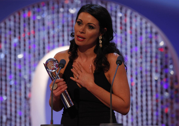 British Soap Awards 2012: Alison King accepts her Best Actress award.