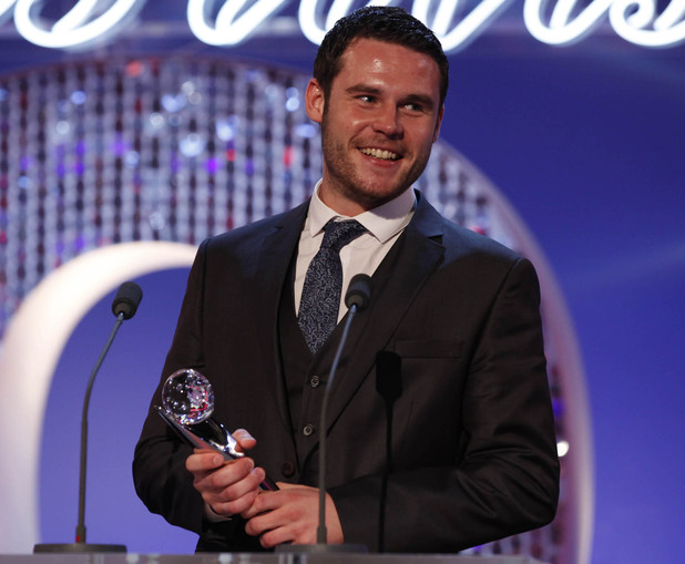 British Soap Awards 2012: Danny Miller with his award for Best Actor.
