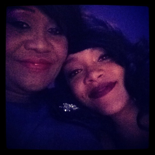 Rihanna and mother Monica