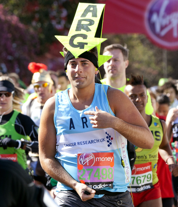 James Argent, TOWIE, London marathon
