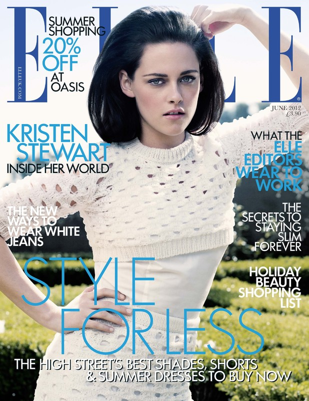Kristen Stewart covers Elle magazine June issue