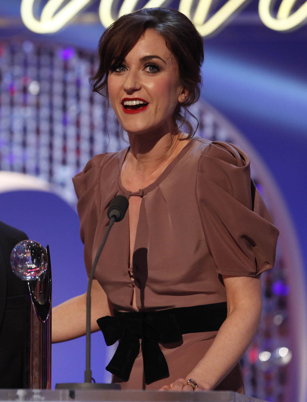 British Soap Awards 2012: Katherine Kelly accepts her award for Best Exit.