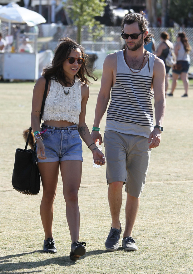 Zoe Kravitz and Penn Badgley Celebrities at the 2012 Coachella Valley Music and Arts Festival - Week 2 Day 3 Indio, California - 22.04.12 Mandatory Credit: WENNCHELLA/WENN.com