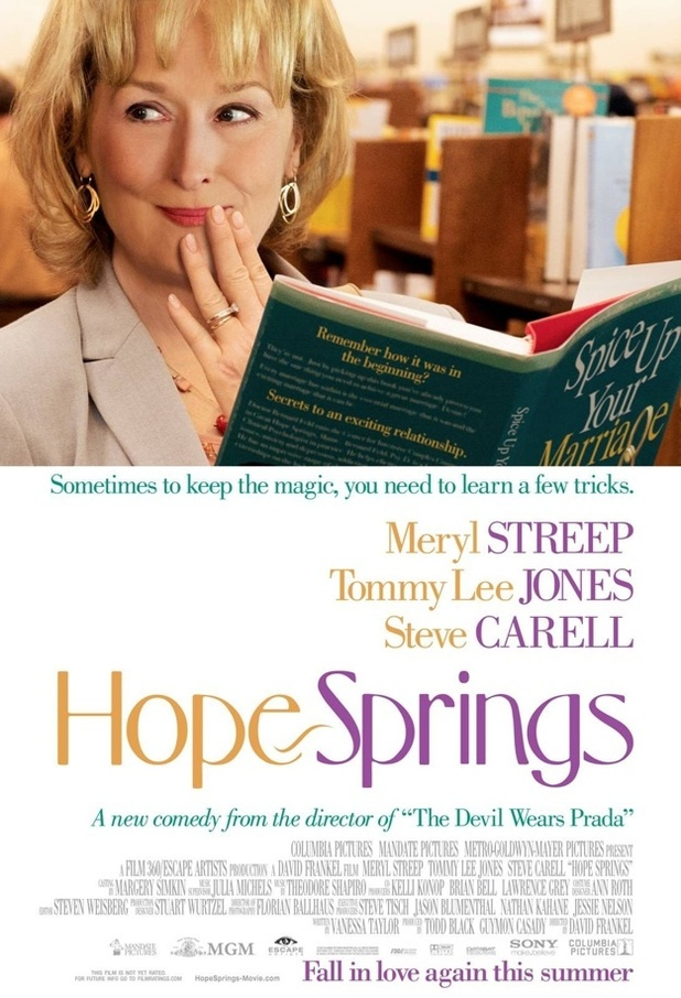 &#39;Hope Springs&#39; poster: Meryl Streep, Tommy Lee Jones, Steve Carell