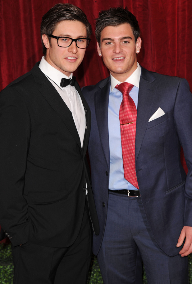 British Soap Awards 2012: Tony Discipline and Matt Lapinskas