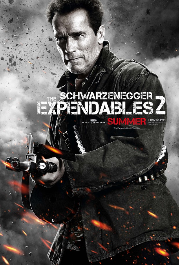 Arnold Schwarzenegger Expendables 2 character poster