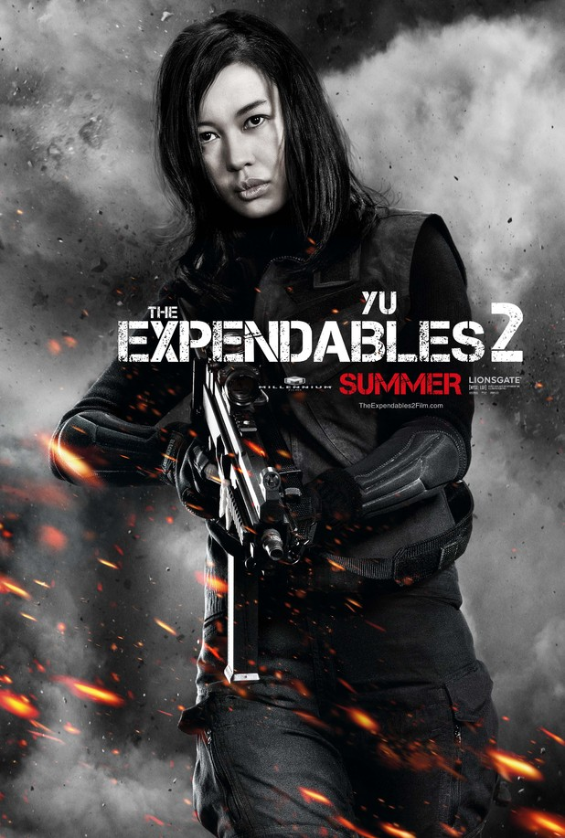 Yu Nan Expendables 2 character poster