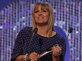 British Soap Awards 2012: Jo Joyner accepts her award for Best Dramatic Performance.