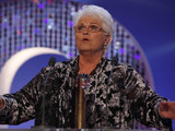 British Soap Awards 2012: Pam St Clement accepts her Lifetime Achievement award.