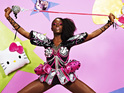 The models attend castings and pose in Hello Kitty couture gowns this week.