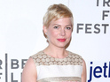 Michelle Williams jokes that James Van Der Beek should call her for a reunion.