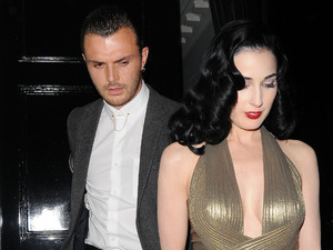 Dita Von Teese leaving The Arts Club